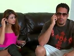 Brannon Rhodes uses his rock hard boner to make blowjob addict Brunette Veronica Rodriguez glad
