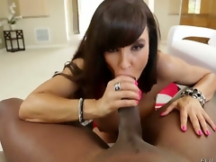 Lexington Steele is a fucking legend and so is Lisa Ann. We receive to watch them in action together as Lisa gobbles on that enormous wang and as she impales her milf cunt on that ginormous cock.