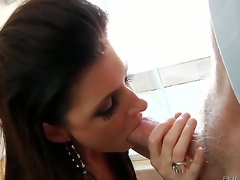 Sex starved milf India Summer is desperate for a guy to fuck her hard, and when she hooks up with Mark Wood she wont let him go until he busts her each hole!