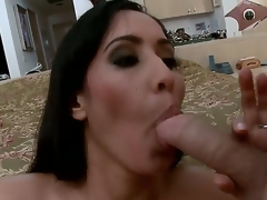 Isis is a rich and slutty MILF! After a hot masturbation that babe decided to feel a large cock in her holes!!! So that babe sucks it and receives in her pussy!!! So just watch and have a fun people!