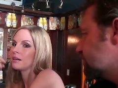 We meet this hawt golden-haired milf in the local bar. She is by shafei, but she still looks very exquisite and sexy, like real lady. I have a goal, I need to pick up this hawt blonde.