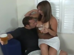 Spicy Milf APril Offers A Cup Of Coffee And Then Her peach