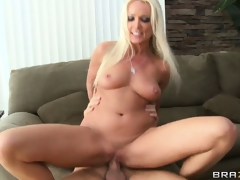 MILF sitter acquires her wish and acquires banged hard with a mouthful of cum