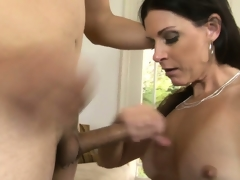 Breathtaking milf with long black hair, hawt milk sacks and a tight cunt has fantasies to explore